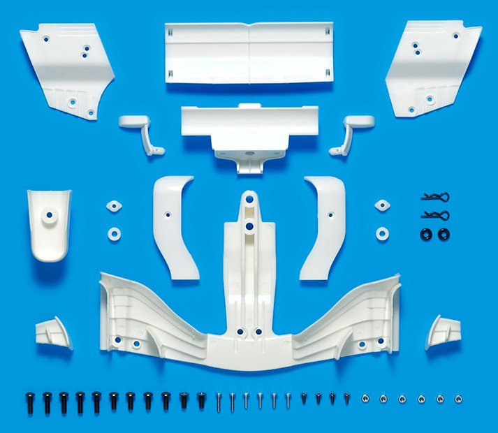 51603 - F104 Formula Racing Wing Set - Front and Rear - WHITE