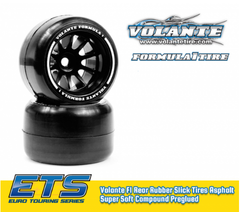 ETS VT-VF1-FM - OUTDOOR Volante F1 Front Rubber Slick Tires MEDIUM Compound Preglued