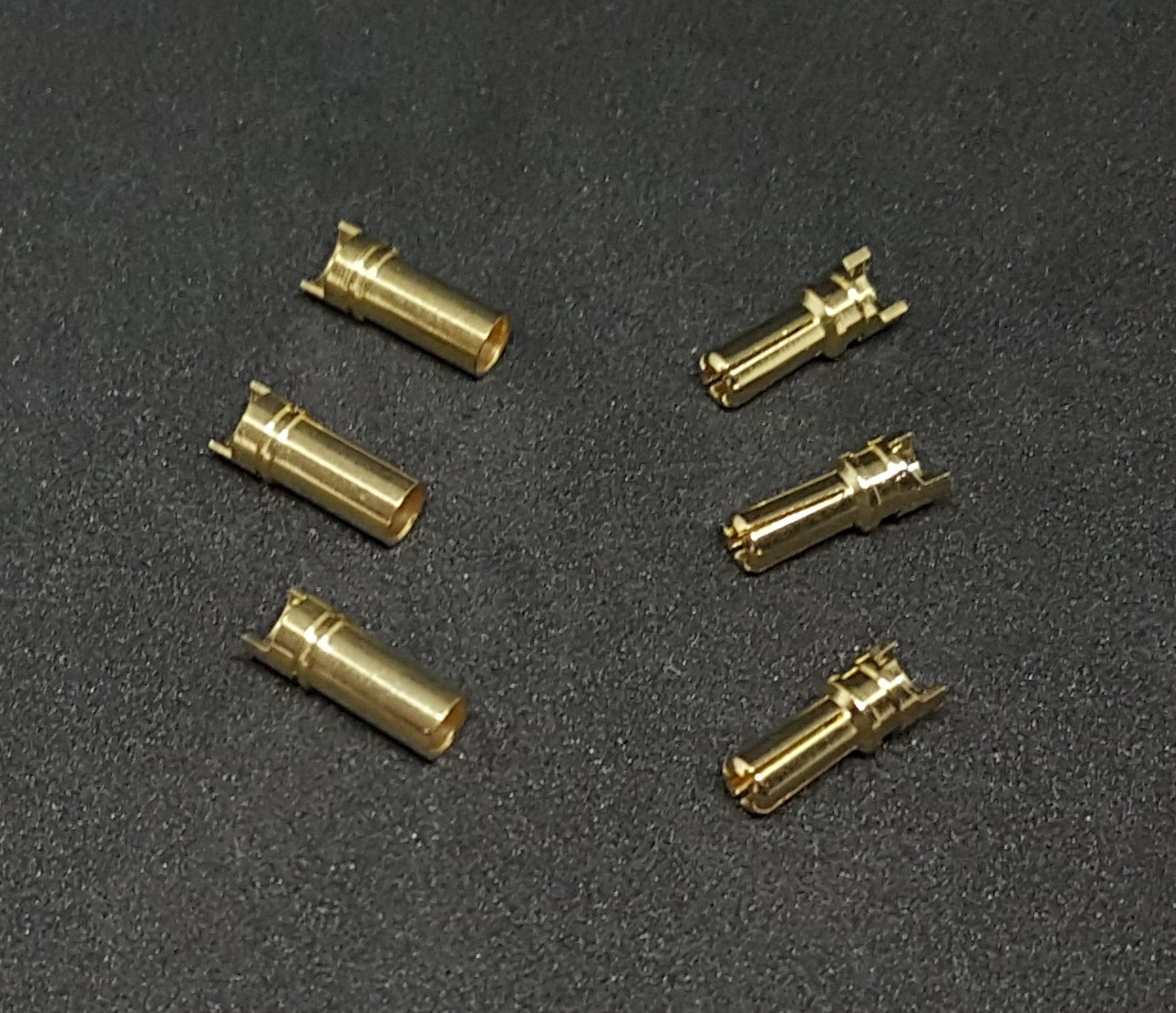 FX0084 -  3.5mm Bullet Plug Gold Connector (3M+3F)