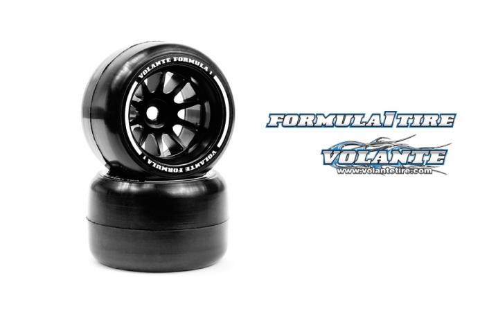 VT-VF1-ARS Volante F1 Rear Rubber Slick Tires Asphalt SOFT Compound Preglued
