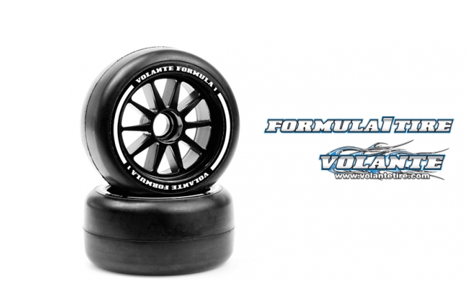 VT-VF1-FMH Volante F1 Front Rubber Slick Tires Medium Hard Compound Preglued